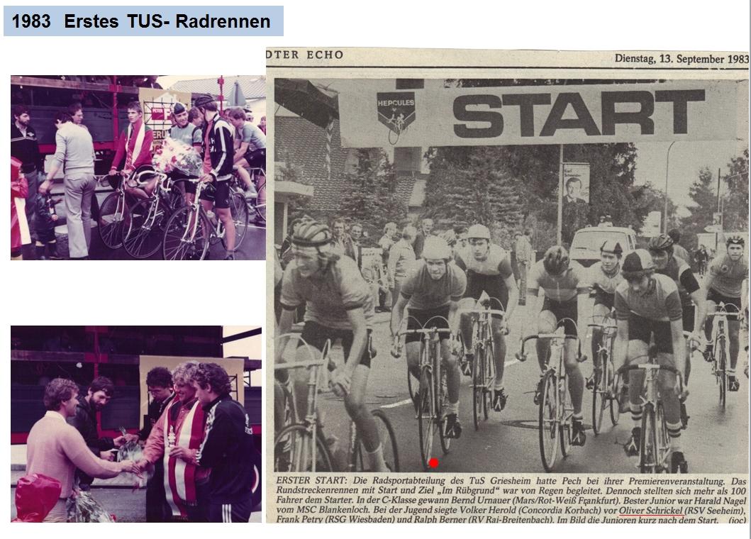 1983 Erstes Rundstreckenrennen