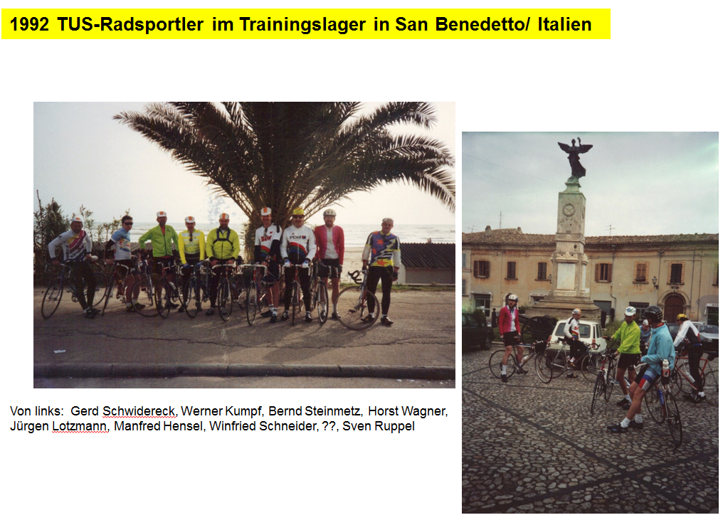 1992 Trainingslager San Bernadetto