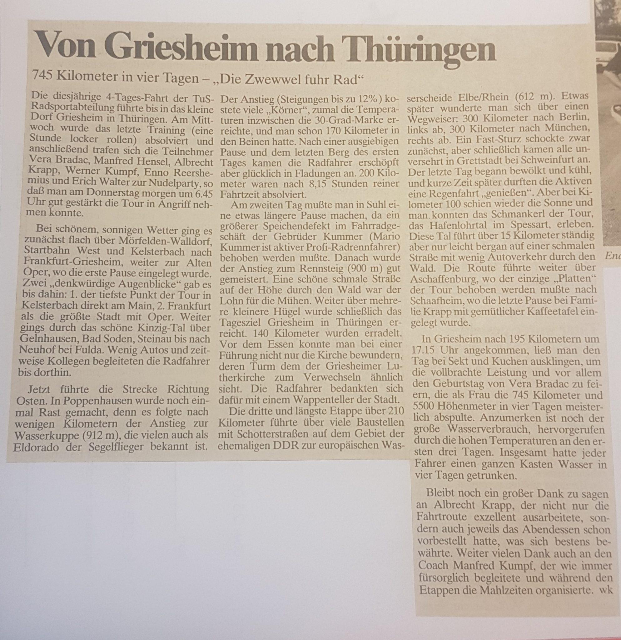 Zeitungsbericht 1006 Thüringen