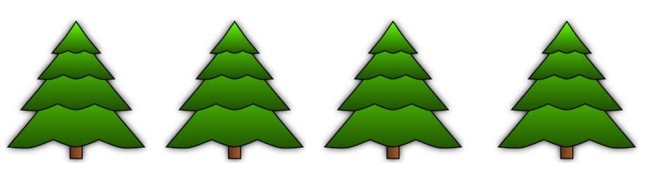 W-Bäume für Adventskalener